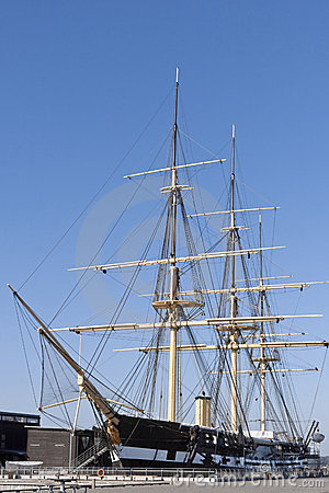 Tall Ship in Dry Dock