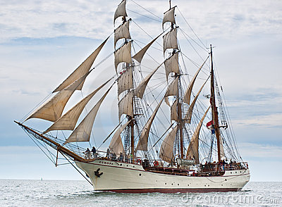 Tall ship Europa. Editorial Stock Image