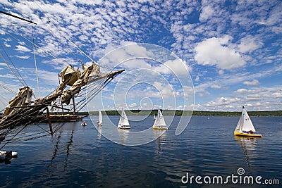Tall Ship Festival Shelburne,Nova Scotia Editorial Photo