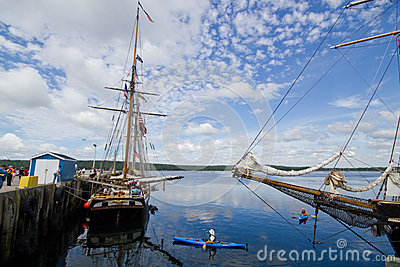 Tall Ship Festival Shelburne,Nova Scotia Editorial Stock Photo