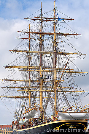 Tall ship Geoarg Stage  in Copenhagen Editorial Stock Image