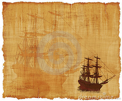 Tall Ship Parchment