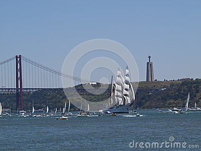 Tall Ship regata in Tagus river
