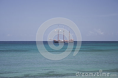 Caribbean tall ship