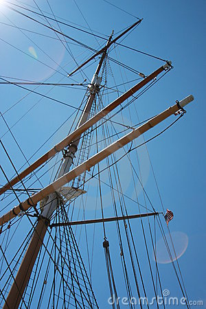 Tall Ship Schooner Rigging and Masts