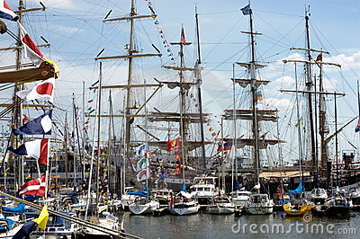 Tall ships Clipper Editorial Stock Image