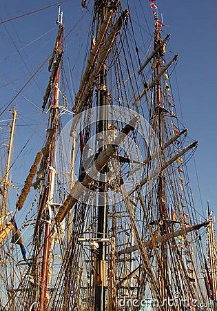 Tall ships masts