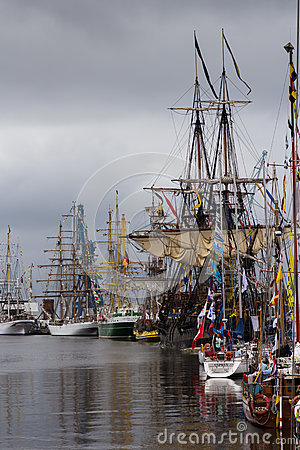 Tall Ships Race Editorial Stock Image