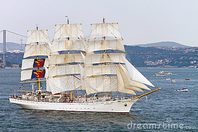 Tall Ships Regatta 2010 - Dar Mlodziezy Editorial Stock Photo