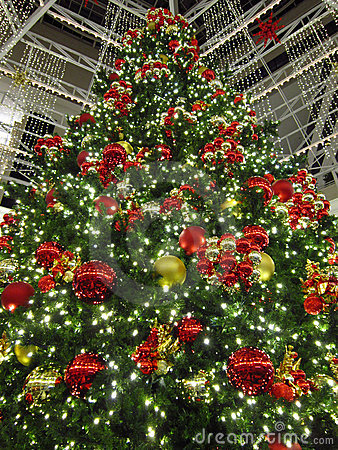 Tall Shopping Mall Christmas Tree