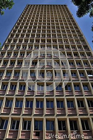 Tall skyscraper full of windows
