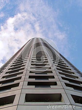 Tall skyscraper hotel