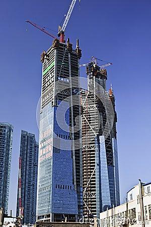 Free Tall Skyscrapers Under Construction, Dalian, China Royalty Free Stock Photos - 29108568