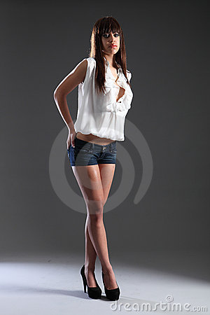 Tall slim beautiful mixed race fashion model girl