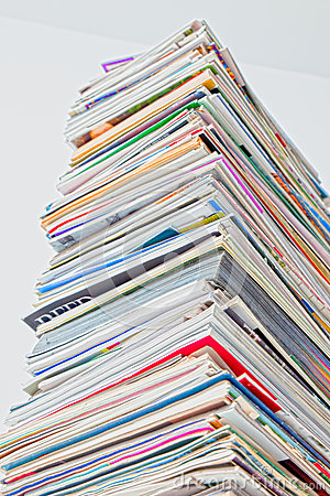 Free Tall Stack Of Magazine, HDR Color Stock Images - 39248544