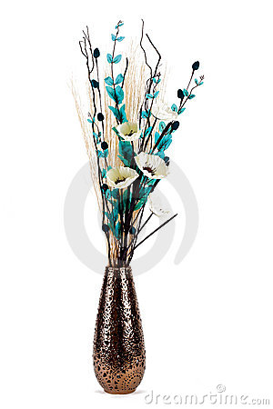 Dried Flower Arrangements on Tall Stylish Flower Arrangement In A Vase Isolated Stock Photography