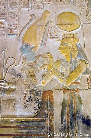 Talla de ISIS y de Osiris