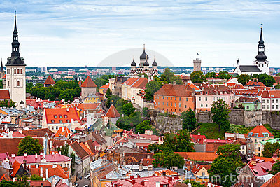 Tallinn from above, Estonia