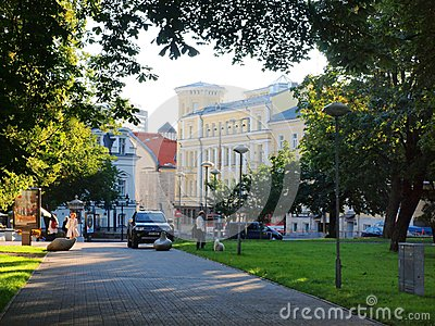 Tallinn city morning life