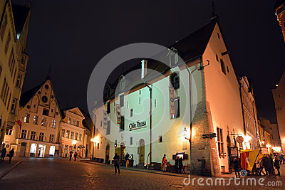 Tallinn famous restaurant Olde Hansa Editorial Stock Photo