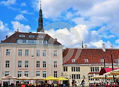 Tallinn main square Editorial Stock Photo