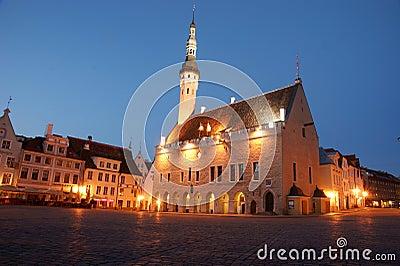 Tallinn medieval Town Hall Editorial Image