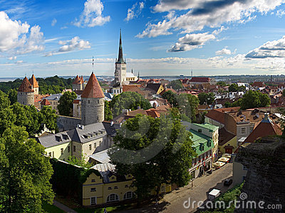 Tallinn old city panorama