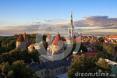 Tallinn old city sunset