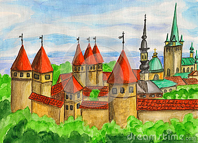 Tallinn, Painting Royalty Free Stock Images - Image: 28868569