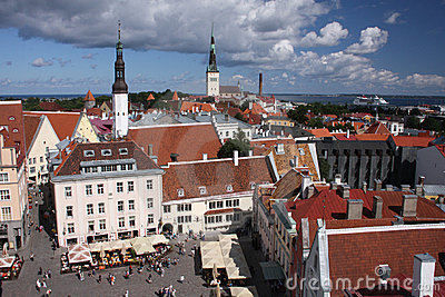 Tallinn square Editorial Stock Photo