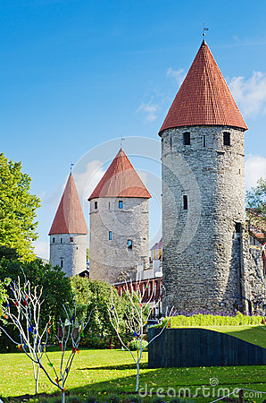 Tallinn, towers of the fortress wall