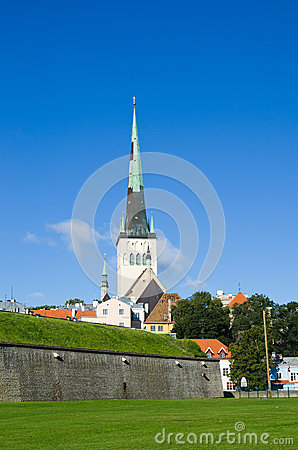 Tallinn, view of Oleviste  Church
