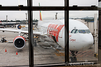 TAM Aircraft in Guarulhos Airport Editorial Stock Photo