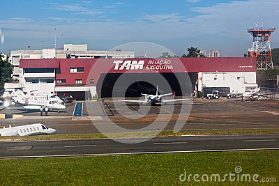 TAM Airlines Hangar Congonhas Sao Paulo Brazil Editorial Stock Photo