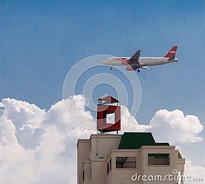 TAM Airplane Sao Paulo Editorial Image