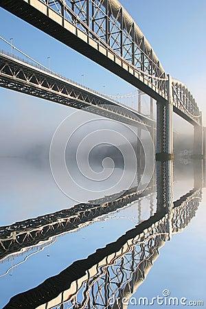 Free Tamar Road Bridge And Brunel Rail Stock Image - 12564211