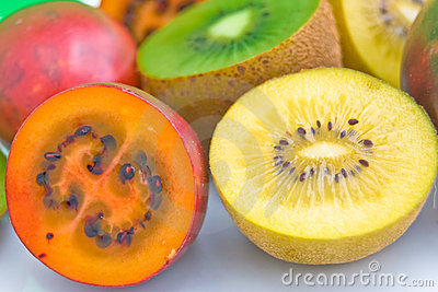 Tamarillo and golden Kiwi fruit