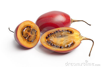 Tamarillo whole and half