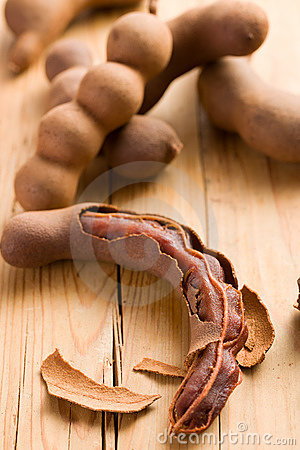 Free Tamarinds On Kitchen Table Royalty Free Stock Image - 17679216