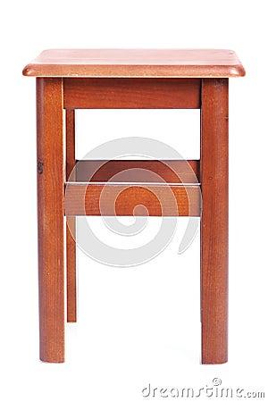 Tamborete simples de madeira
