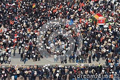 Tamil Tiger protest in Geneva Editorial Photo