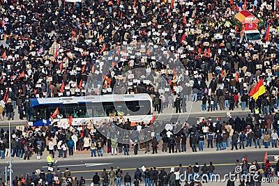 Tamil Tiger protest in Geneva Editorial Stock Photo