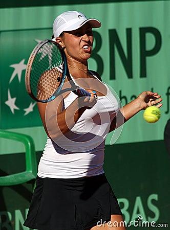 Tamira Paszek (AUT) at Roland Garros 2011 Editorial Photography