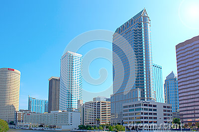 Tampa, Florida skyline Editorial Stock Image