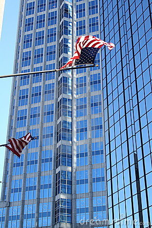 Tampa Highrise with Flags