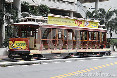 Tampa Open Streetcar Editorial Image