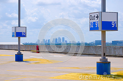 Tampa skyline viewed from Tampa Int'l Airport