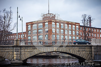 Tampella building in Tampere Finland Editorial Stock Photo