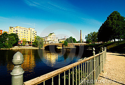 Tampere city waterfront