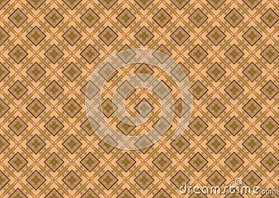 Tan Brown Diamond Pattern